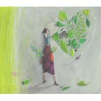 Carte double Gaelle Boissonnard  14 x 15,5 Le coeur en feuillage
