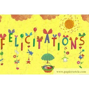 """Carte Elise Formarier """"Félicitations"""""""