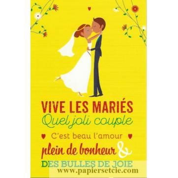 """Carte Alice de Page """" Vive les Mariés"""""""