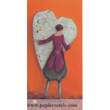 Carte simple Gaelle Boissonnard  21x10,5 Le Coeur en papier