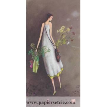 Carte simple Gaelle Boissonnard  21x10,5 Les Sacs de Fleurs