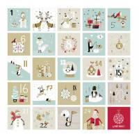 Kit calendrier de l'Avent motifs de Noël couleur pastel