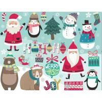 Carte artisanale Merry Christmas Père Noel HOHOHO