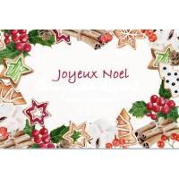 Carte artisanale Joyeux Noel Sucreries