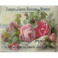 """Carte artisanale Vintage Paris """"Fabrique de Meubles et Roses"""""""
