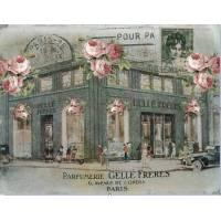 """Carte artisanale Vintage Paris """"Parfumerie Gellé Frères"""""""