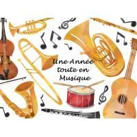 Carte artisanale Une Année toute en Musique