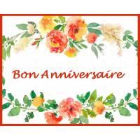 """Carte artisanale Bon Anniversaire """"Fleurs d'Eté"""""""