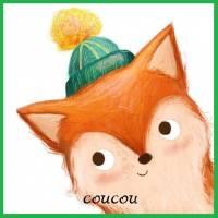 """Carte Petit Renard """"Coucou"""" artisanale"""
