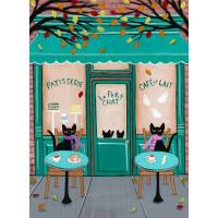 "Carte artisanale Chat ""Patisserie Le Petit Chat"""