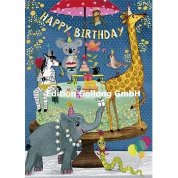 Carte Mila Marquis Happy Birthday Les animaux