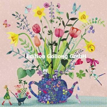 Carte Mila Marquis carrée La Théière et les Fleurs