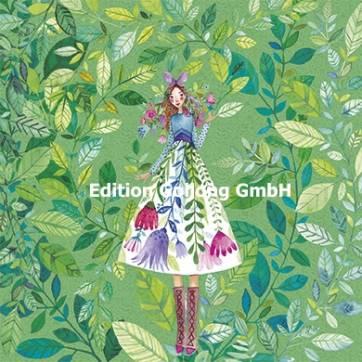 Carte Mila Marquis La jeune fille à la robe fleurie