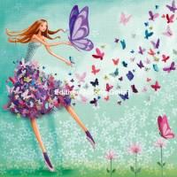 Carte Mila Marquis La jeune femme et les papillons