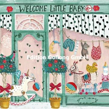 "Carte Cartita Design ""Welcome little baby"""