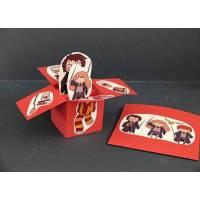 """Carte 3 D Pop Up Rouge vif """"Harry Potter"""""""