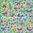 Carte Mila Marquis Parterre de Fleurs et de Papillons