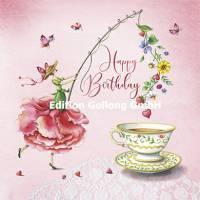 Carte Nina Chen Happy Birthday La Tasse de Thé