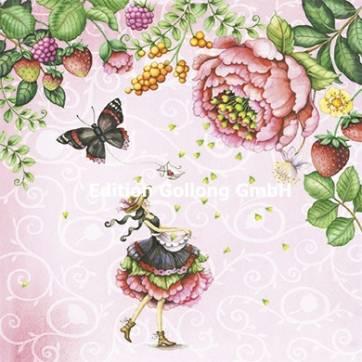 Carte Nina Chen La jeune Femme sous les Fruits et les Fleurs