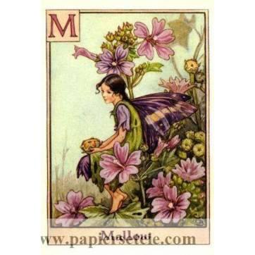 """Carte """"Fées des Fleurs"""" Cicely Mary Barker """"La Mauve"""""""