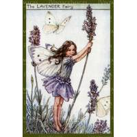 "Carte ""Fées des Fleurs"" Cicely Mary Barker ""Lavande"""