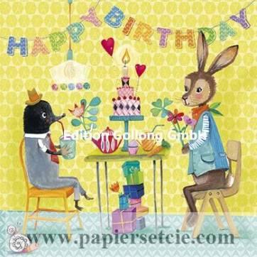 Carte Mila Marquis Happy Birthday La Taupe et le Lièvre