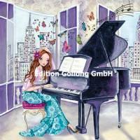 Carte Cartita Design La jeune Femme au  Piano