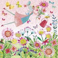 Carte Mila Marquis L'elfe arrosant les fleurs