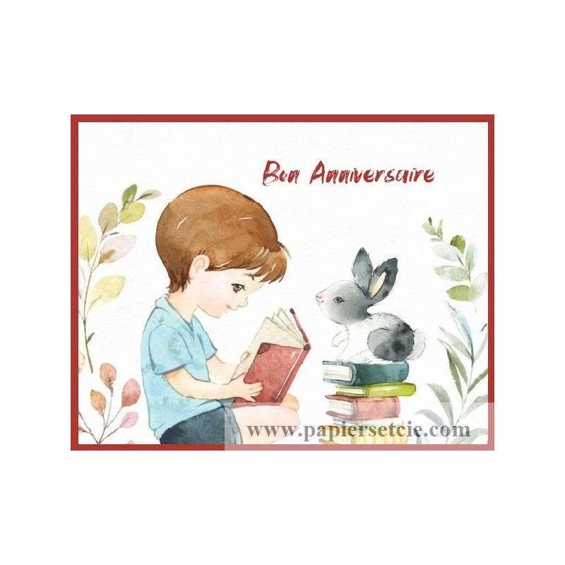 Carte Anniversaire Enfants Bon Anniversaire Garcon Et Lapin