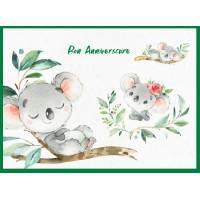 Carte Anniversaire enfants Bon Anniversaire Les Koalas