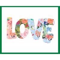 Carte Anniversaire aquarelle LOVE LOVE LOVE