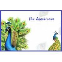 Carte Anniversaire aquarelle Bon Anniversaire Les paons