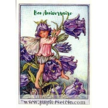 Carte Anniversaire Fées des Fleurs Campanules