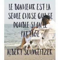 """Carte citation Bonheur:""""Le Bonheur est la seule chose qui se double"""""""