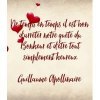 """Carte citation Bonheur:""""De temps en temps il est bon d'arrêter notre quête du Bonheur .."""""""