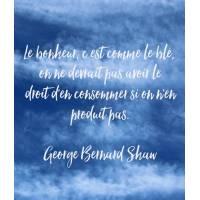 """Carte citation Bonheur: """"Le bonheur, c'est comme le blé..."""""""