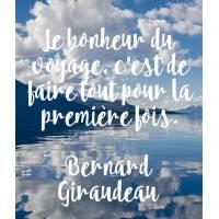 """Carte citation Bonheur: """"Le bonheur du voyage, c'est de faire..."""""""