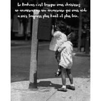 """Carte citation Bonheur: """"Le Bonheur c'est lorsque vous choisissez un amoureux ou une amoureuse""""..."""