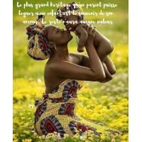 """Carte citation Bonheur: """"Le plus grand héritage qu'un parent puisse léguer à un enfant est le souvenir de son amour..."""""""