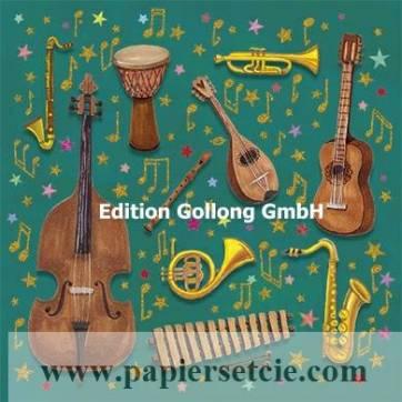 Carte Mila Marquis Les instruments de Musique et Paillettes