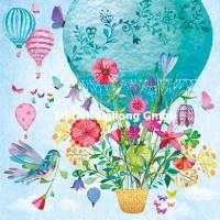 Carte Mila Marquis la Montgolfière et les Fleurs