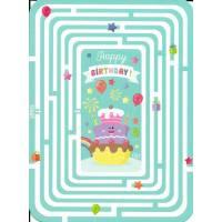"Carte Anniversaire  Lali devinette ""Happy Birthday"" en Labirynthe"