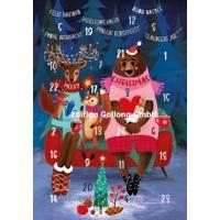 Carte calendrier de l'Avent Mila Marquis Les animaux de la Forêt