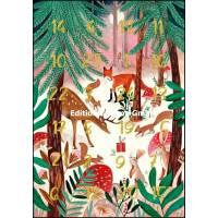 Carte calendrier de l'Avent Caroline Bonne Les animaux de la Forêt