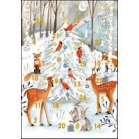 Carte calendrier de l'Avent Cartita Design Les animaux de la Forêt