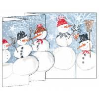 Carte Nouvel An 3 D Les Bonhommes de Neige