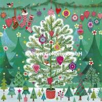 Carte Joyeux Noêl ou Nouvel an Mila Marquis L'Arbre de Noël