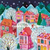Carte Joyeux Noêl ou Nouvel an Mila Marquis La Ville à Noël