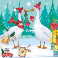 Carte Joyeux Noël ou Nouvel an Nina Chen Les Oies