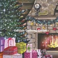 Carte Joyeux Noël ou Nouvel an Sabina Comizzi Cheminée de Noël